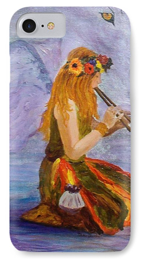 IPhone 7 Case featuring the painting Calling The Wolf Spirit by Tami Booher