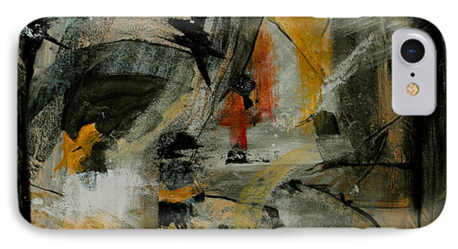 Abstract IPhone 7 Case featuring the painting Calm Out Of Chaos by Ruth Palmer