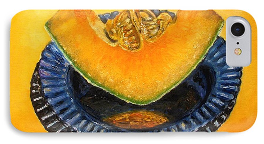 Cantaloupe IPhone 7 Case featuring the painting Cantaloupe Oil Painting by Natalja Picugina