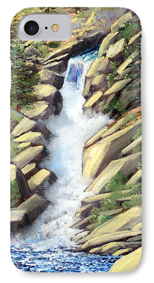 Landscape IPhone 7 Case featuring the painting Canyon Falls by Frank Wilson