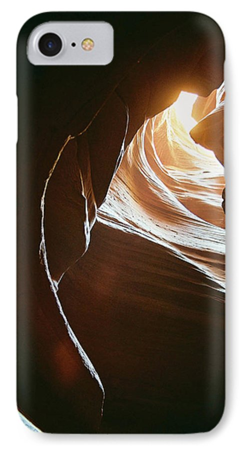 Landscape IPhone 7 Case featuring the photograph Canyon Flares by Cathy Franklin