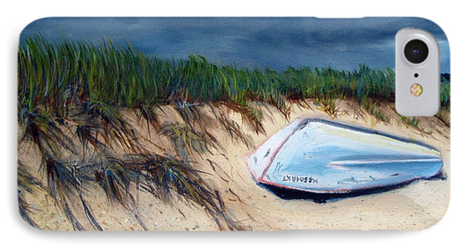 Boat IPhone 7 Case featuring the painting Cape Cod Boat by Paul Walsh