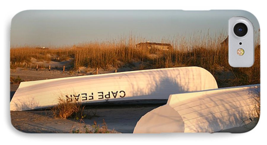 Boats IPhone 7 Case featuring the photograph Cape Fear Boats by Nadine Rippelmeyer