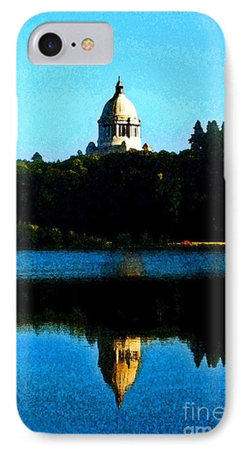 Lake IPhone 7 Case featuring the photograph Capital Lake by Larry Keahey