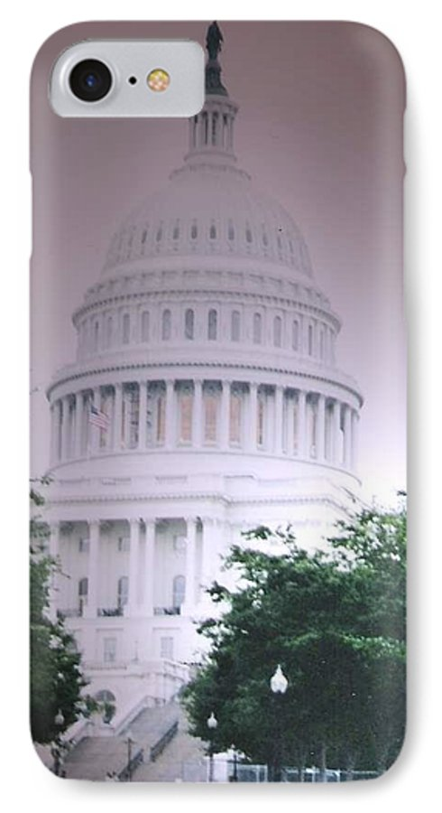 Capitol IPhone 7 Case featuring the photograph Capitol In Pink by Pharris Art
