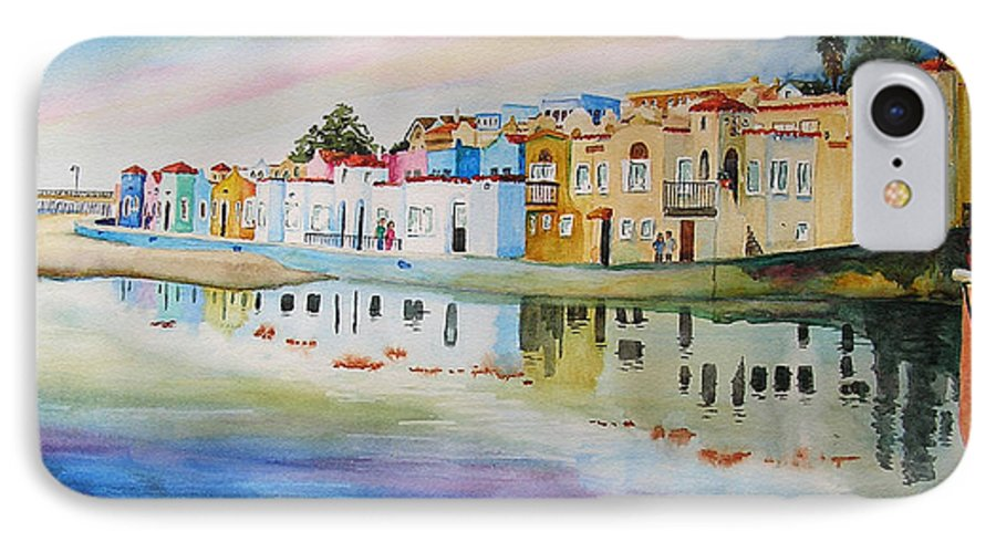 Capitola IPhone 7 Case featuring the painting Capitola by Karen Stark