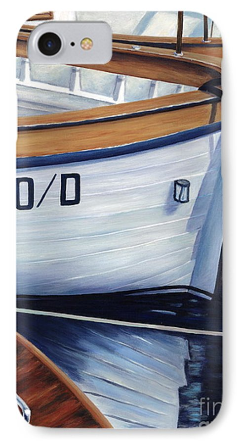 Nautical IPhone 7 Case featuring the painting Capri Boats by Danielle Perry