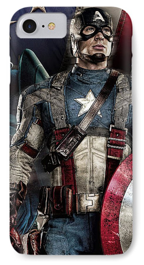 sneakers for cheap e30b9 4da07 Captain America - America IPhone 7 Case