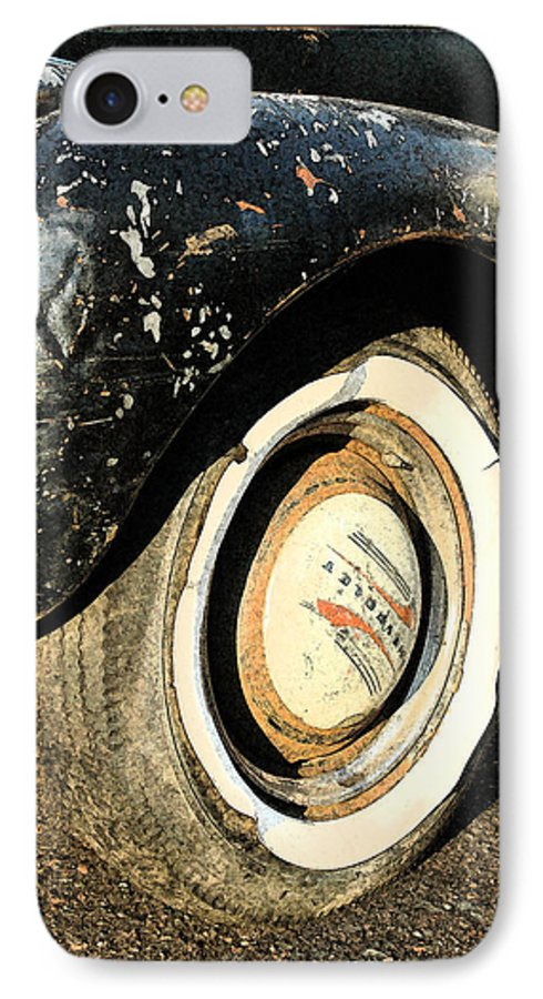 Car IPhone 7 Case featuring the photograph Car Alfresco II by Kathy Schumann