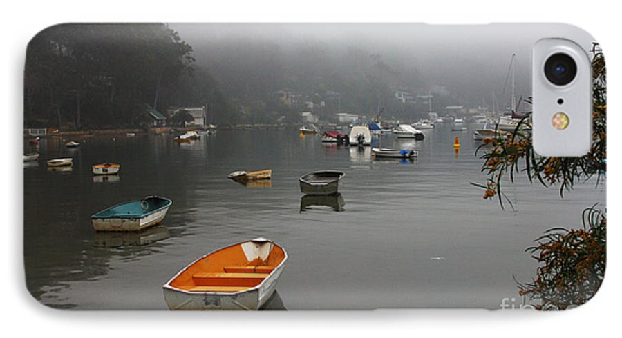 Mist IPhone 7 Case featuring the photograph Careel Bay Mist by Sheila Smart Fine Art Photography