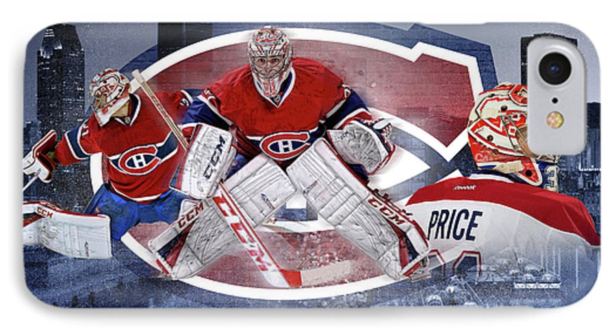Carey Price Montreal Canadiens Canadiens Hockey Nhl Habs Carey Price Paintings Montreal Canadiens Paintings Goalie Paintings Hockey Paintings Carey Price Canvas Prints Montreal Canadiens Canvas Prints Goalie Canvas Prints Hockey Canvas Prints Ice Canvas Prints Montreal Canadiens Framed Prints Goalie Framed Prints Hockey Framed Prints Ice Framed Prints Iphone Cover Nhl Hockey IPhone 7 Case featuring the digital art Carey Price Mural by Nicholas Legault
