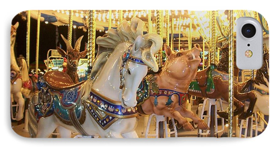 Carosel Horse IPhone 7 Case featuring the photograph Carousel Horse 2 by Anita Burgermeister