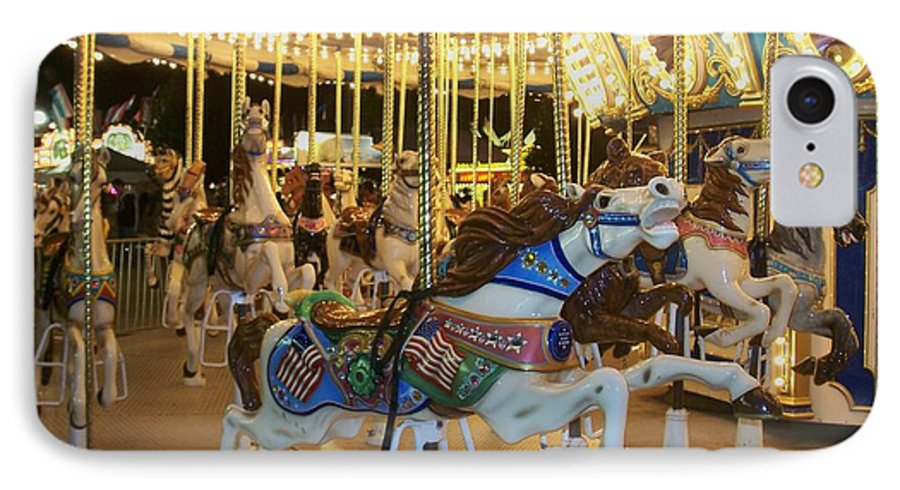 Carousel Horse IPhone 7 Case featuring the photograph Carousel Horse 3 by Anita Burgermeister