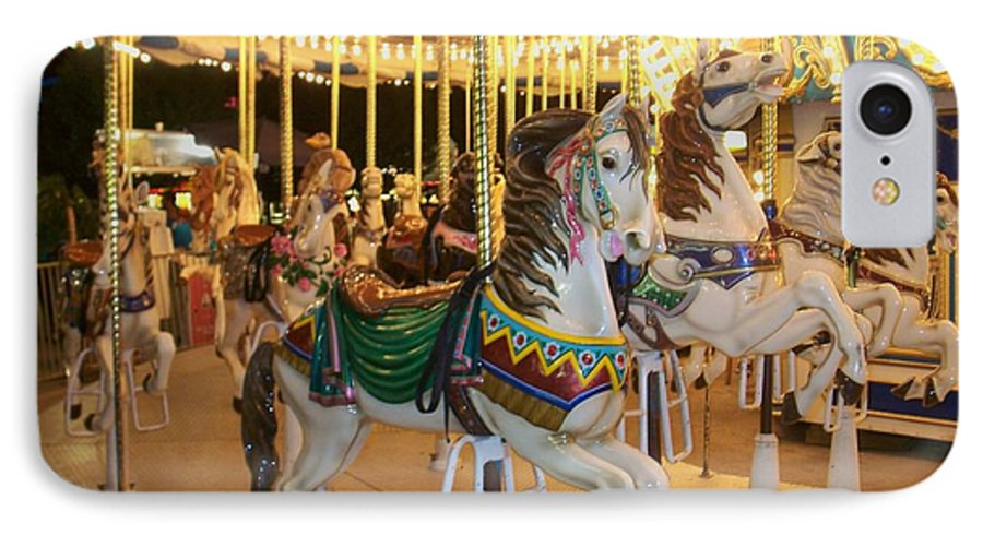 Carousel Horse IPhone 7 Case featuring the photograph Carousel Horse 4 by Anita Burgermeister