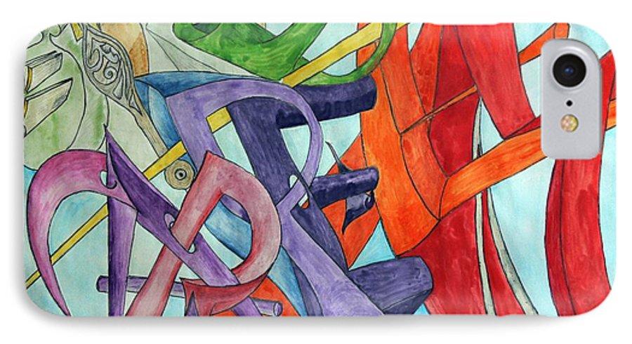 Carpe Diem IPhone 7 Case featuring the painting Carpe Diem by Helmut Rottler
