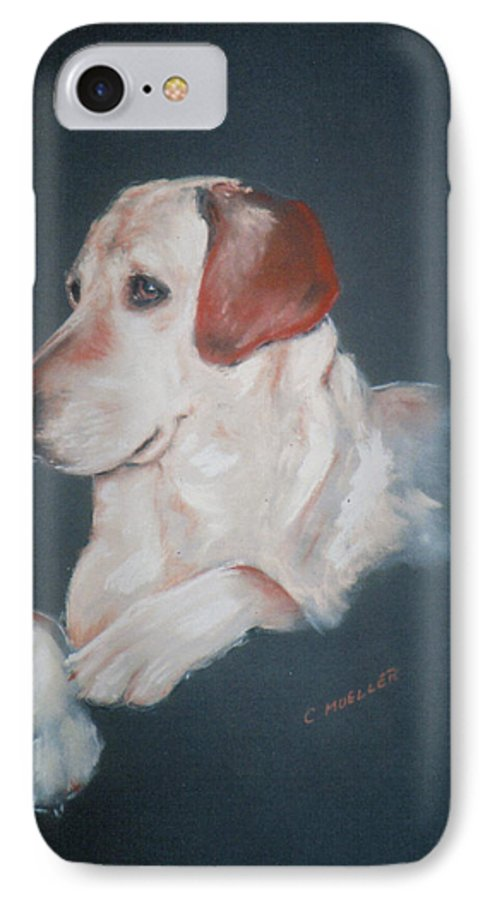 Dog IPhone 7 Case featuring the painting Casey by Carol Mueller