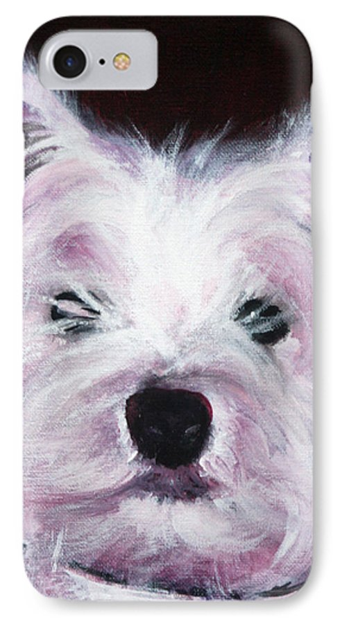 Dog IPhone 7 Case featuring the painting Cassie by Fiona Jack