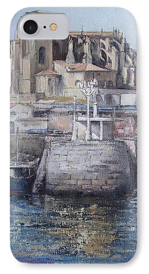 Castro IPhone 7 Case featuring the painting Castro Urdiales by Tomas Castano