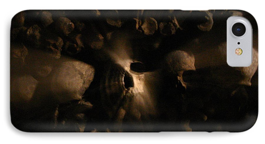 IPhone 7 Case featuring the photograph Catacombs - Paria France 3 by Jennifer McDuffie