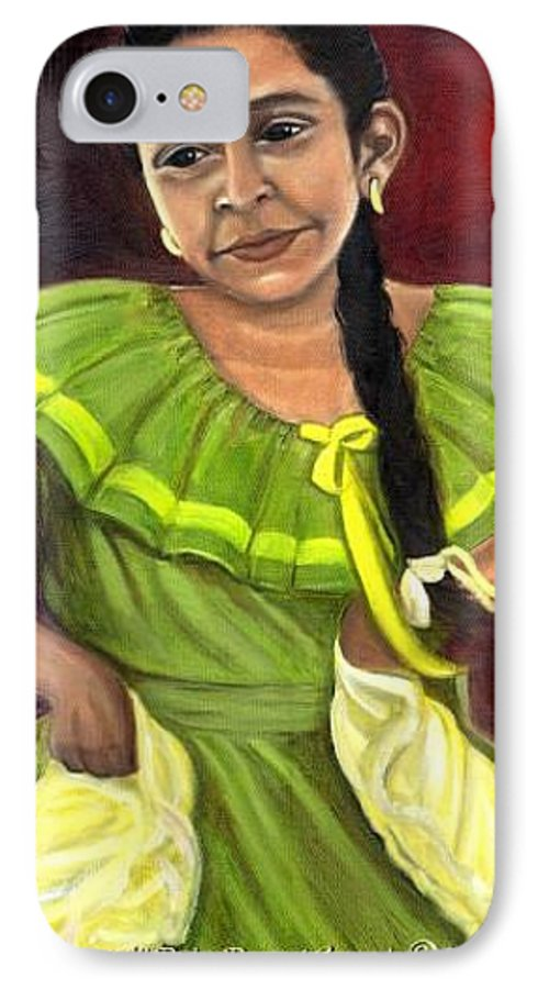 IPhone 7 Case featuring the painting Cecelia by Toni Berry