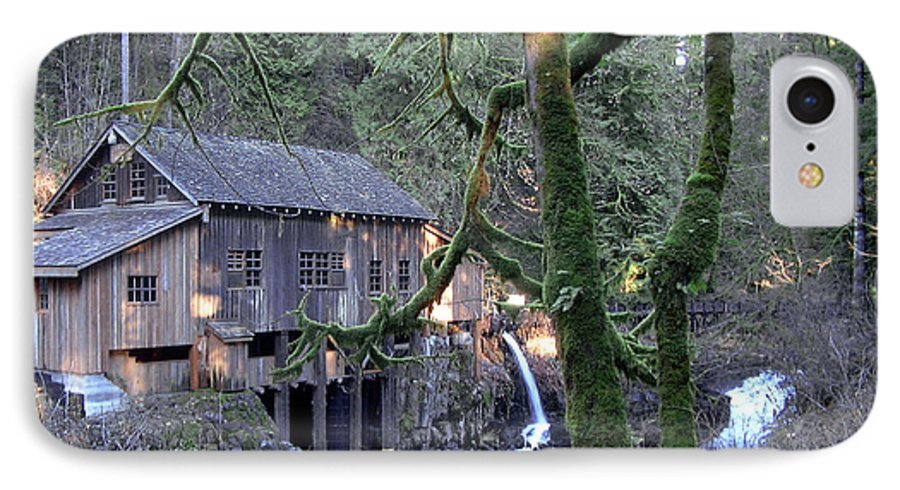 Landscape IPhone 7 Case featuring the photograph Cedar Creek Grist Mill by Larry Keahey