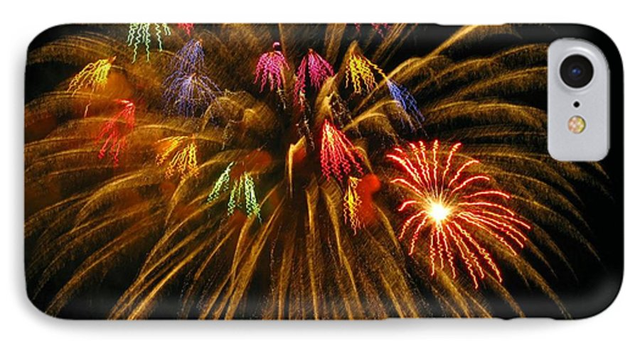Fireworks IPhone 7 Case featuring the photograph Celebrate by Rhonda Barrett