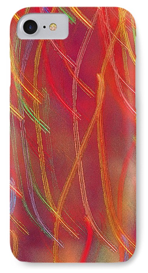 Abstract IPhone 7 Case featuring the photograph Celebration by Gaby Swanson