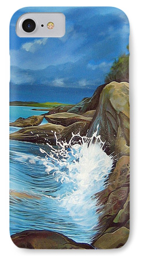 Ocean IPhone 7 Case featuring the painting Cerulean by Hunter Jay