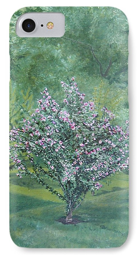 Blooming IPhone 7 Case featuring the painting Charles Street by Leah Tomaino