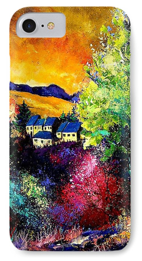 Landscape IPhone 7 Case featuring the painting Charnoy by Pol Ledent