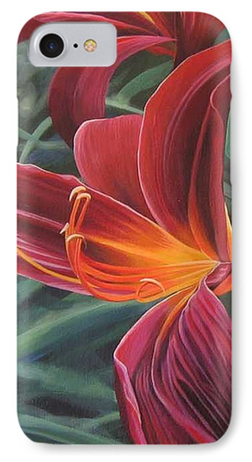 Lily Near Cheesman Park IPhone 7 Case featuring the painting Chase The Sun by Hunter Jay