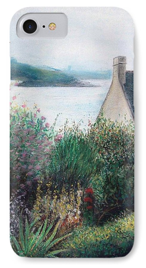 Landscape IPhone 7 Case featuring the painting Chausey by Muriel Dolemieux