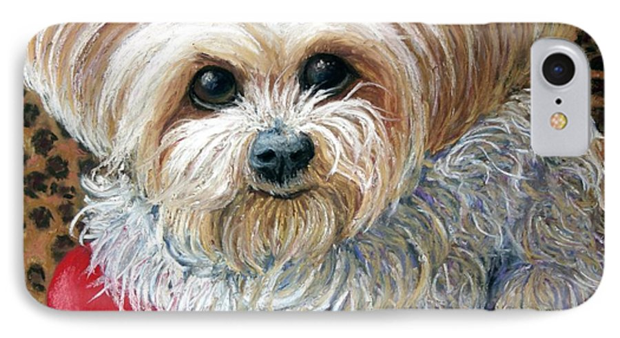 Dog IPhone 7 Case featuring the painting My Friend by Minaz Jantz