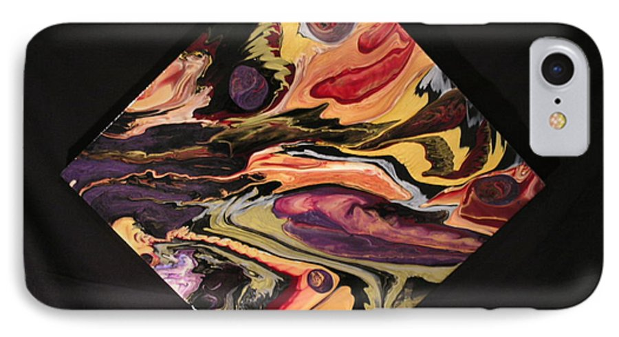 Abstract IPhone 7 Case featuring the painting Cherish The Day by Patrick Mock