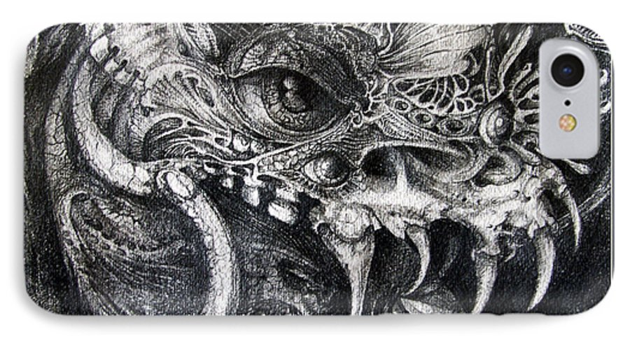 IPhone 7 Case featuring the drawing Cherubim Of Beasties by Otto Rapp