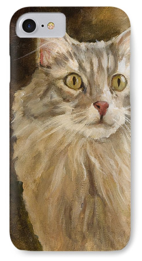 Animal IPhone 7 Case featuring the painting Chessie by Jimmie Trotter