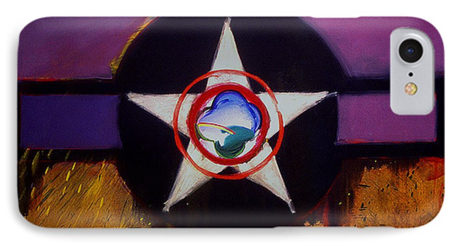 Air Force Insignia IPhone 7 Case featuring the painting Cheyenne Autumn by Charles Stuart