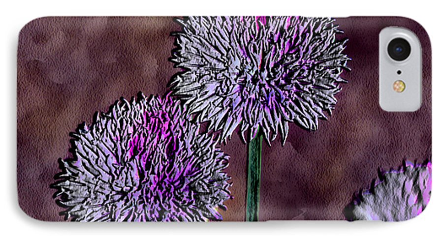 Ebsq IPhone 7 Case featuring the photograph Chives by Dee Flouton
