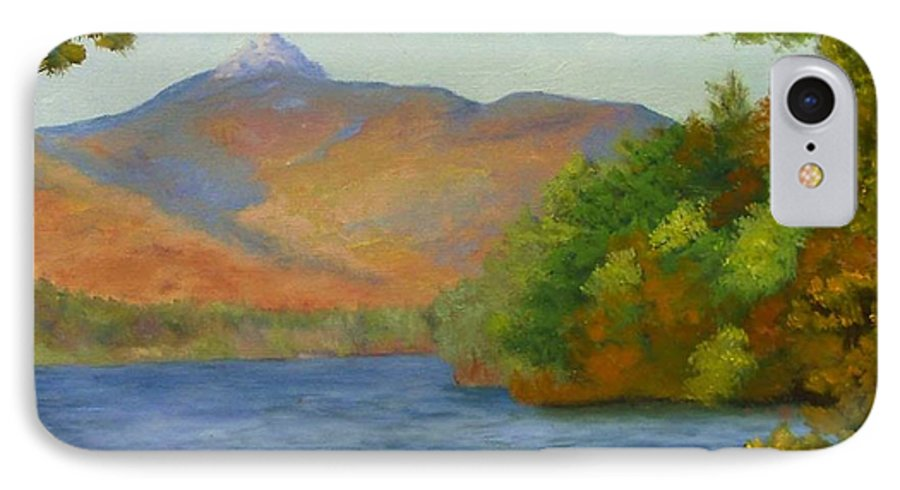 Mount Chocorua And Chocorua Lake IPhone 7 Case featuring the painting Chocorua by Sharon E Allen