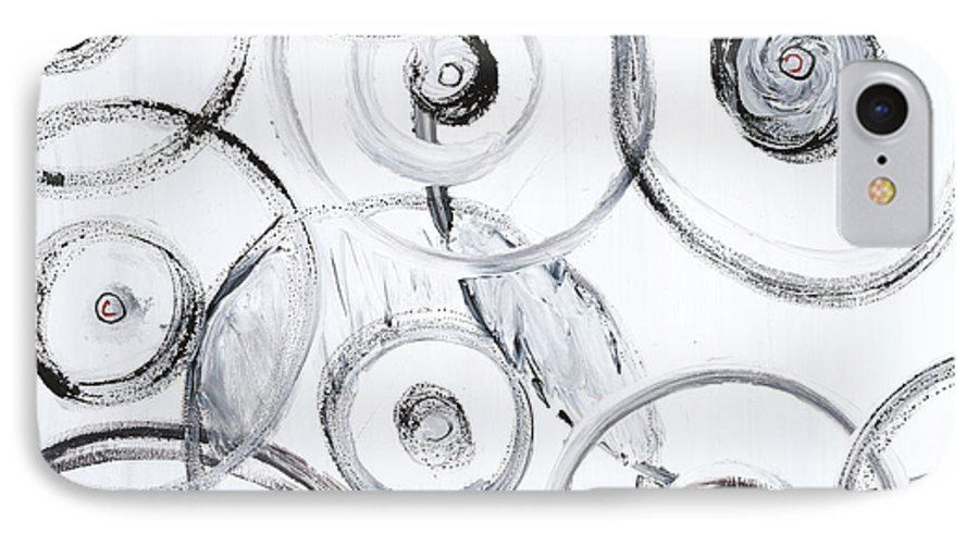 Circles IPhone 7 Case featuring the painting Choices In White by Nadine Rippelmeyer