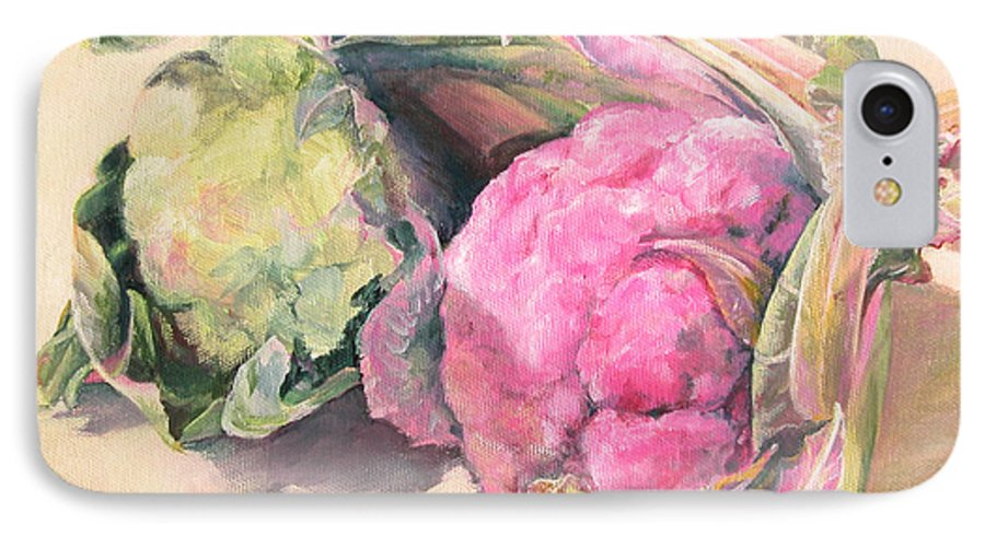 Flower IPhone 7 Case featuring the painting Choux by Muriel Dolemieux