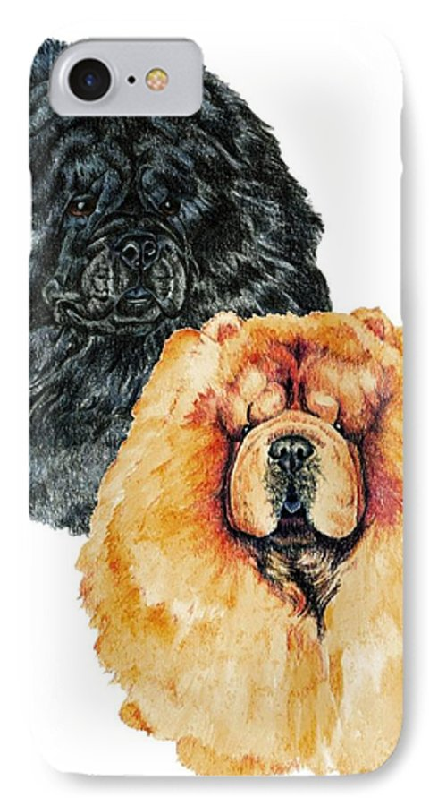 Chow Chow IPhone 7 Case featuring the painting Chow Chows by Kathleen Sepulveda