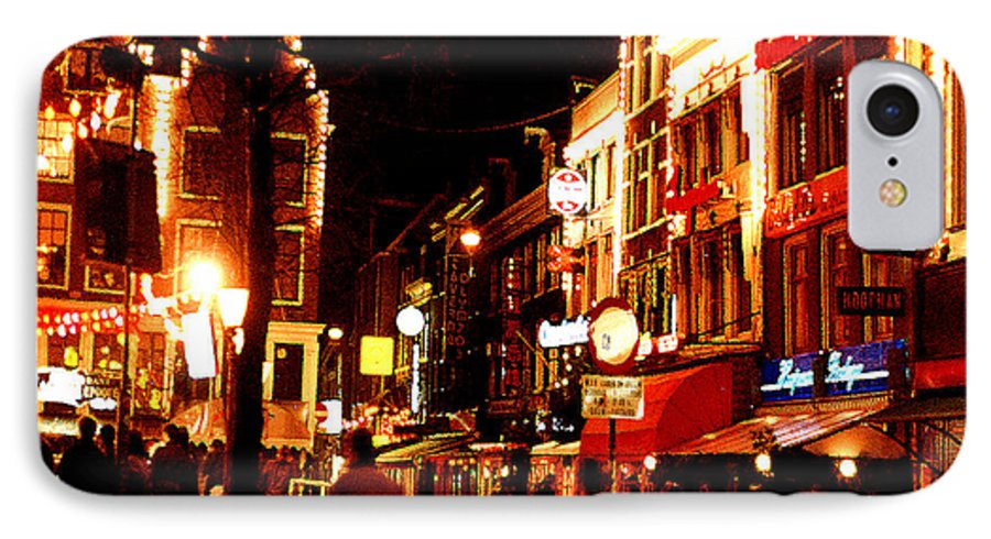 Night IPhone 7 Case featuring the photograph Christmas In Amsterdam by Nancy Mueller