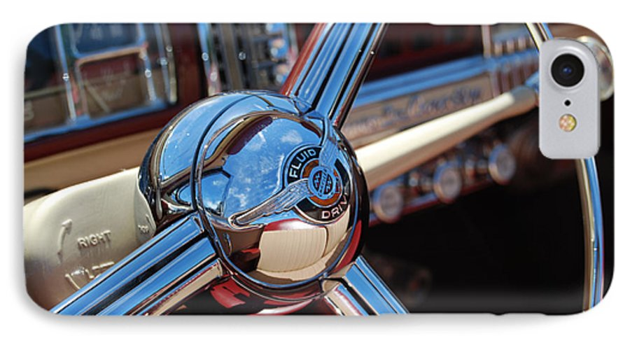 Classics IPhone 7 Case featuring the photograph Chrysler Town And Country Steering Wheel by Larry Keahey