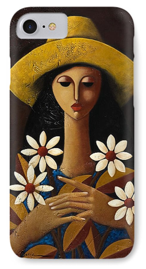 Puerto Rico IPhone 7 Case featuring the painting Cinco Margaritas by Oscar Ortiz