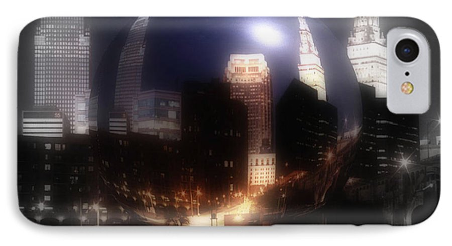 Cleveland IPhone 7 Case featuring the photograph City On The North Coast by Kenneth Krolikowski