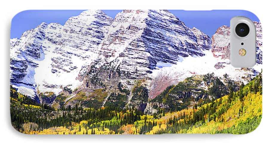 Americana IPhone 7 Case featuring the photograph Classic Maroon Bells by Marilyn Hunt