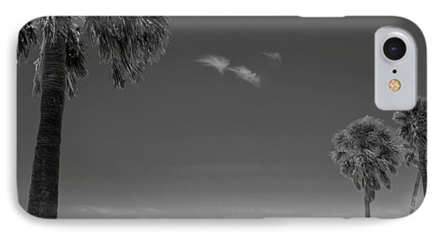 3scape IPhone 7 Case featuring the photograph Clearwater Beach Bw by Adam Romanowicz