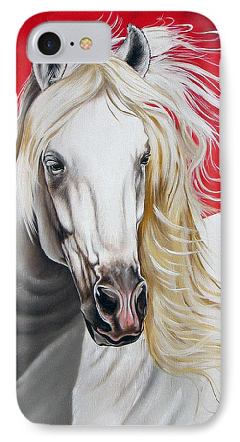 Horse IPhone 7 Case featuring the painting Cleo by Ilse Kleyn