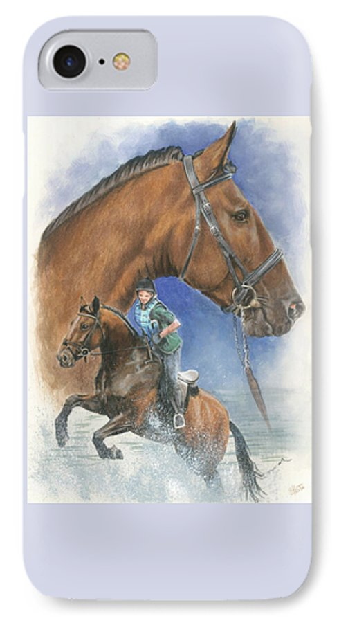 Hunter Jumper IPhone 7 Case featuring the mixed media Cleveland Bay by Barbara Keith